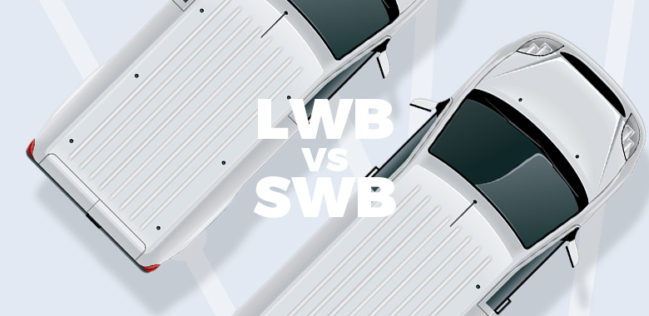 lwb vs swb vans what s the difference and which is best. Black Bedroom Furniture Sets. Home Design Ideas