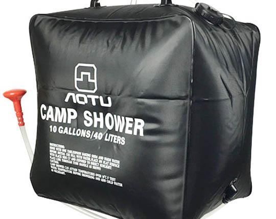 10 Gallon Solar Heated Camp Shower