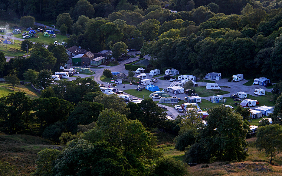 Campervans at Park Cliffe Campsite